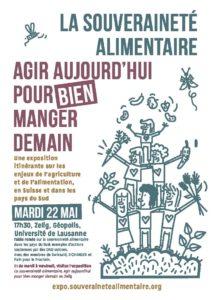 Expo + table ronde/conférence sur la souveraineté alimentaire